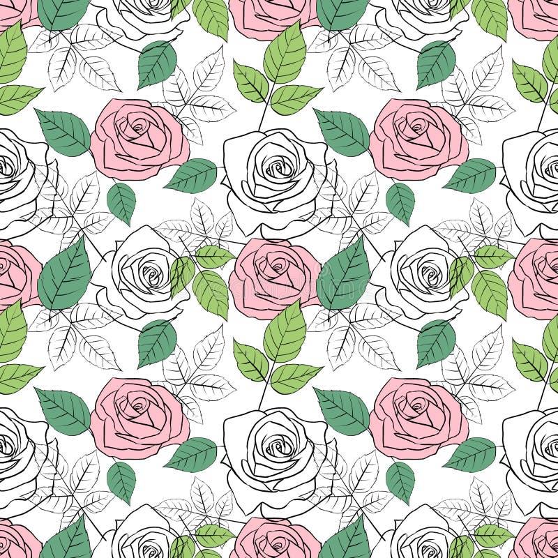S?ml?s modell med rosor och sidor vektor illustrationer