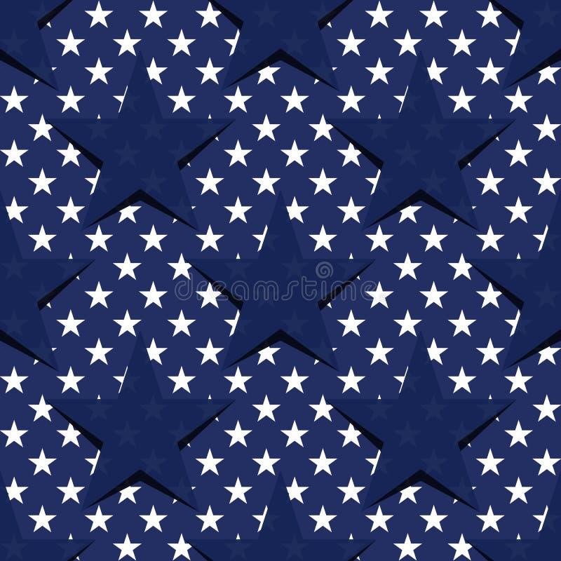 S?ml?s modell med stj?rnor i amerikanska flaggantemat Materielvektor stock illustrationer