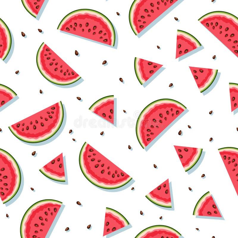 S?ml?s modell med vattenmelonskivor ocks? vektor f?r coreldrawillustration vektor illustrationer