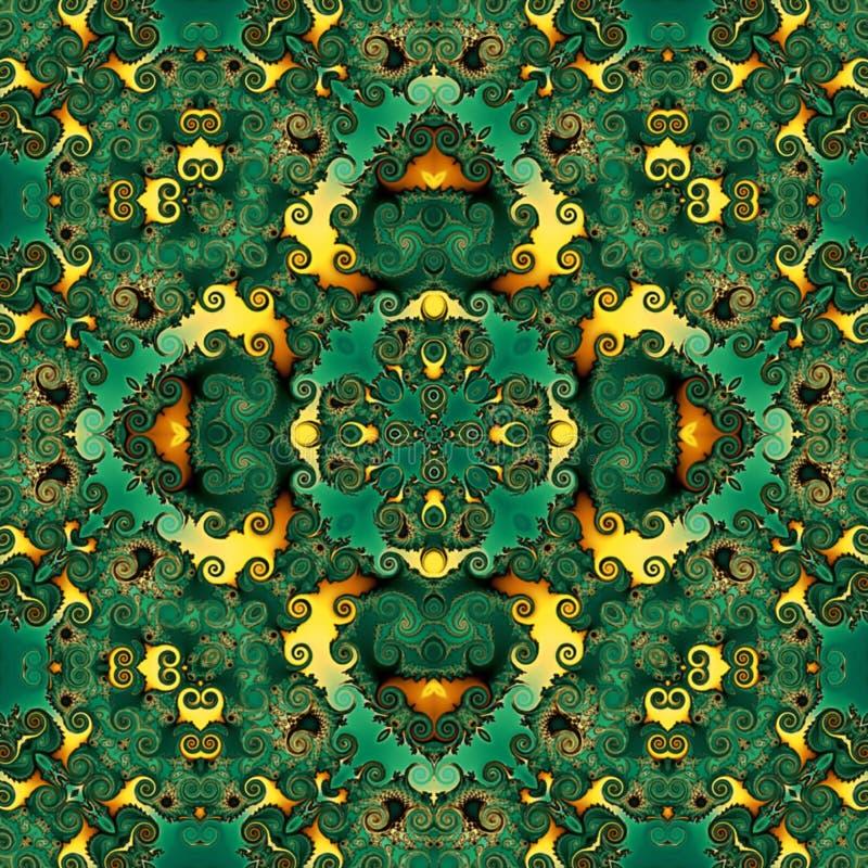 S?ml?s rastermodell i modellen f?r mosaik f?r orientalisk stilblomma den psykedeliska f?r tapeten, bakgrunder, dekor f?r gobel?ng stock illustrationer
