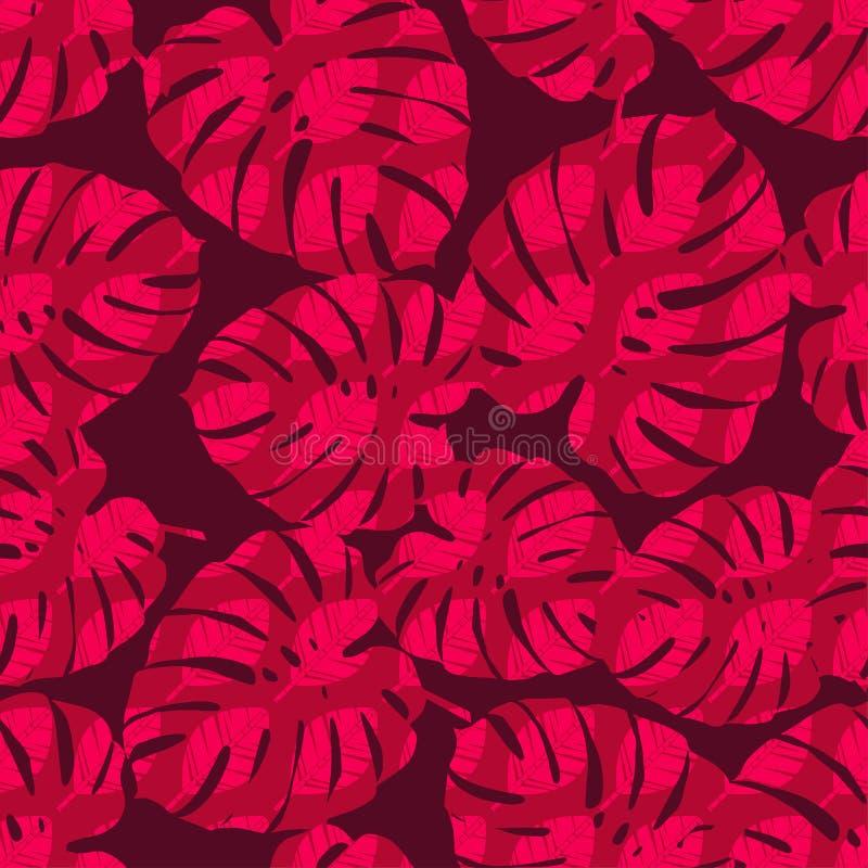 S?ml?s bakgrund med dekorativa tropiska palmblad Monstera ocks? vektor f?r coreldrawillustration vektor illustrationer
