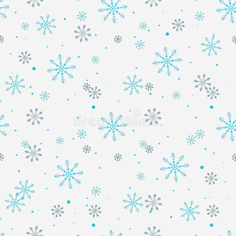 S?ml?s modell f?r jul med abstrakt bakgrund f?r sn?flingor vita snowflakes ocks? vektor f?r coreldrawillustration f?r fractalbild stock illustrationer