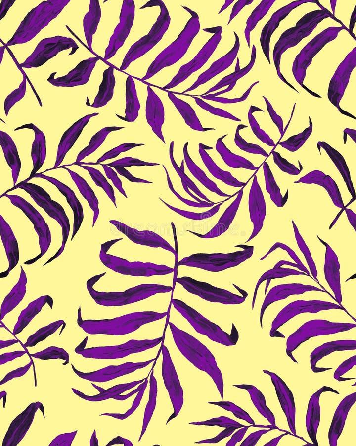S?ml?s modell f?r tropiska palmblad vektor illustrationer