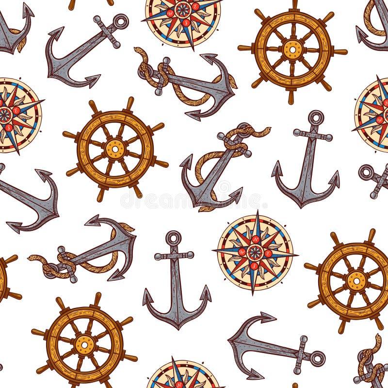 S?ml?sa maritima symboler vektor illustrationer