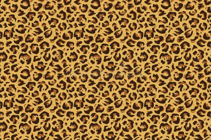 S?ml?st tryck f?r leopard Modell f?r djur hud f?r gepardjaguar exotisk, lyxig modetapet Vektortextildesign stock illustrationer