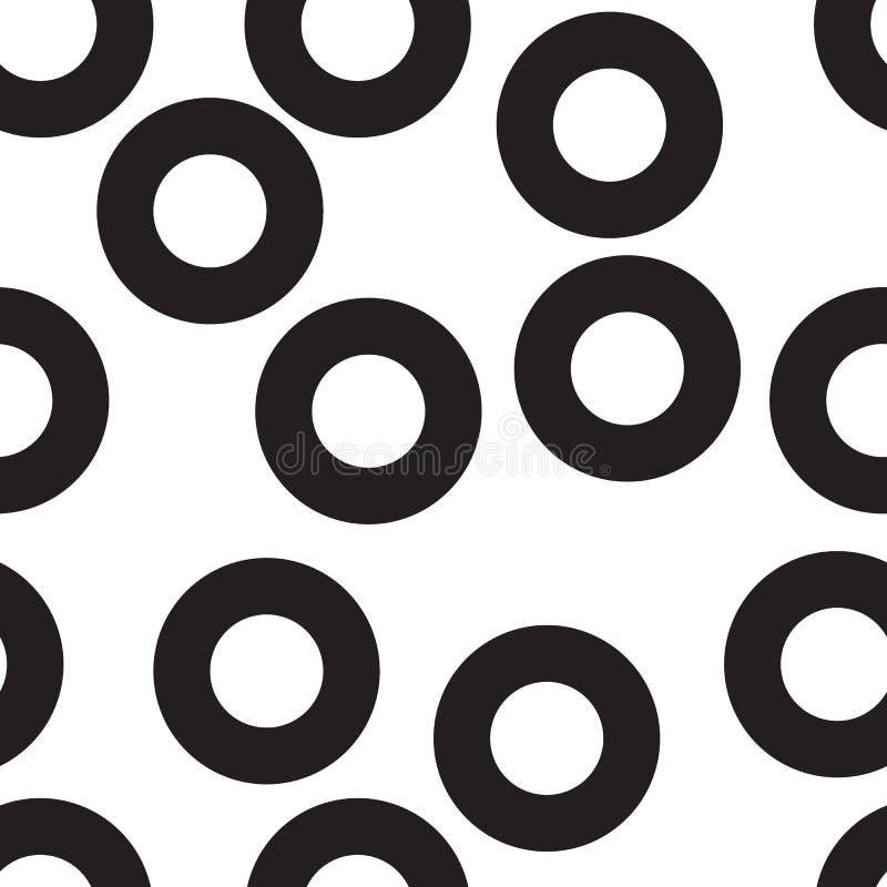 S?ml?s svartvit cirkelmodelldesign royaltyfri illustrationer