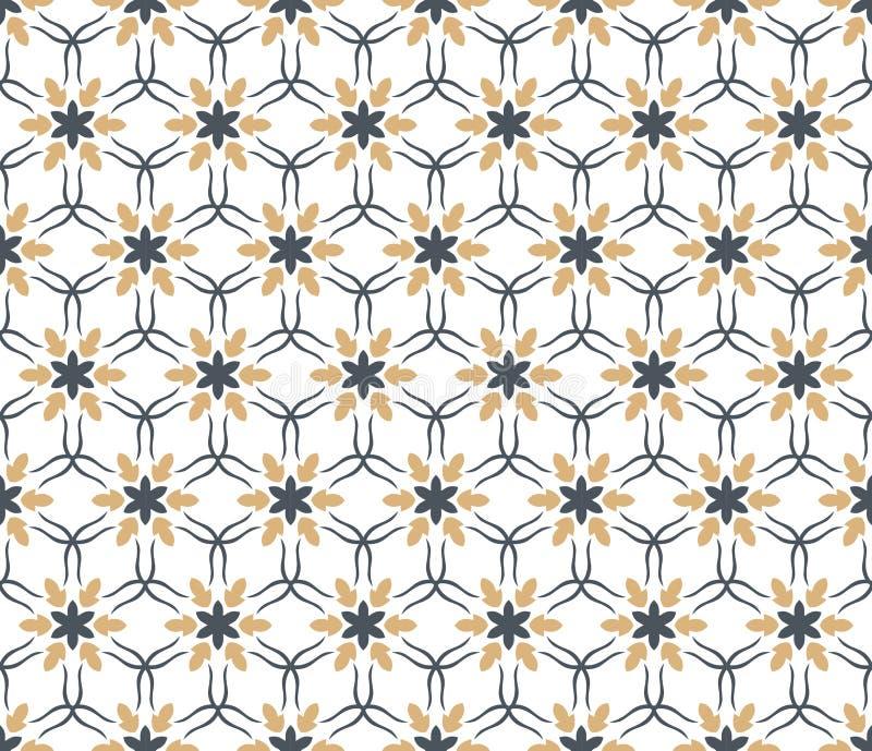 S?ml?s vektormodell f?r blom- tegelplattor f?r texturmodell f?r blomma geometrisk bakgrund stock illustrationer