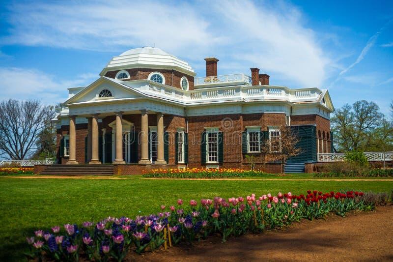 ` S Monticello neoclassico di Thomas Jefferson fotografia stock libera da diritti