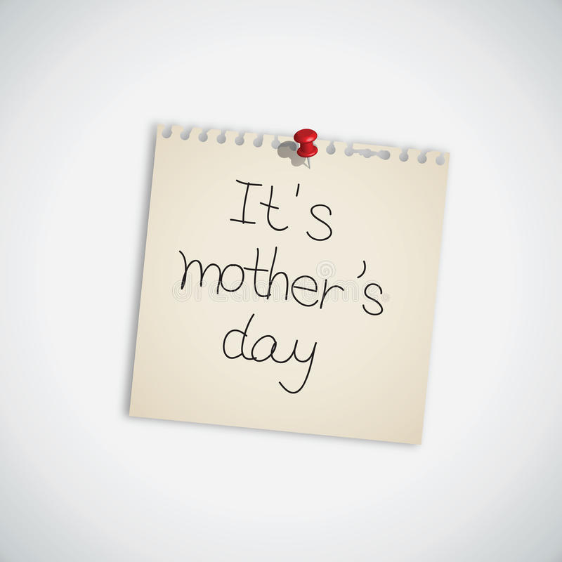 Download It's Mother's Day Note Paper Royalty Free Stock Photo - Image: 24515135