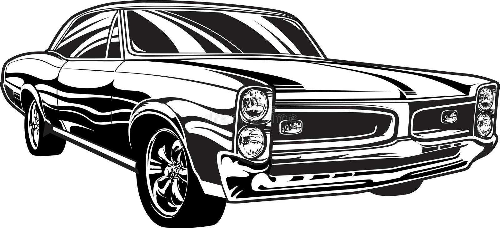 1960s Muscle Car Stock Vector