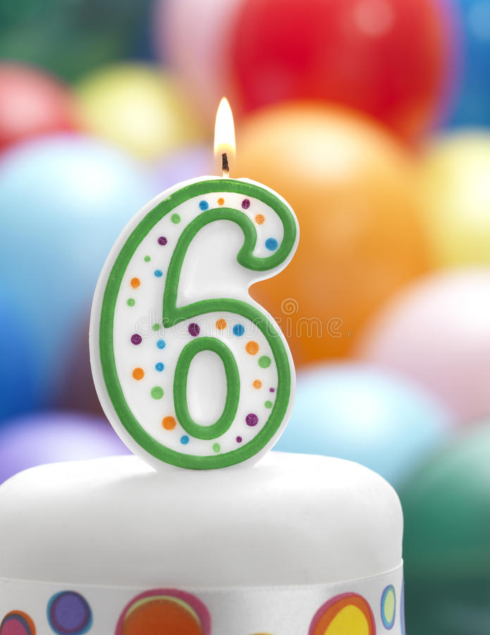 It's My Birthday. Candle with balloon party background royalty free stock photos