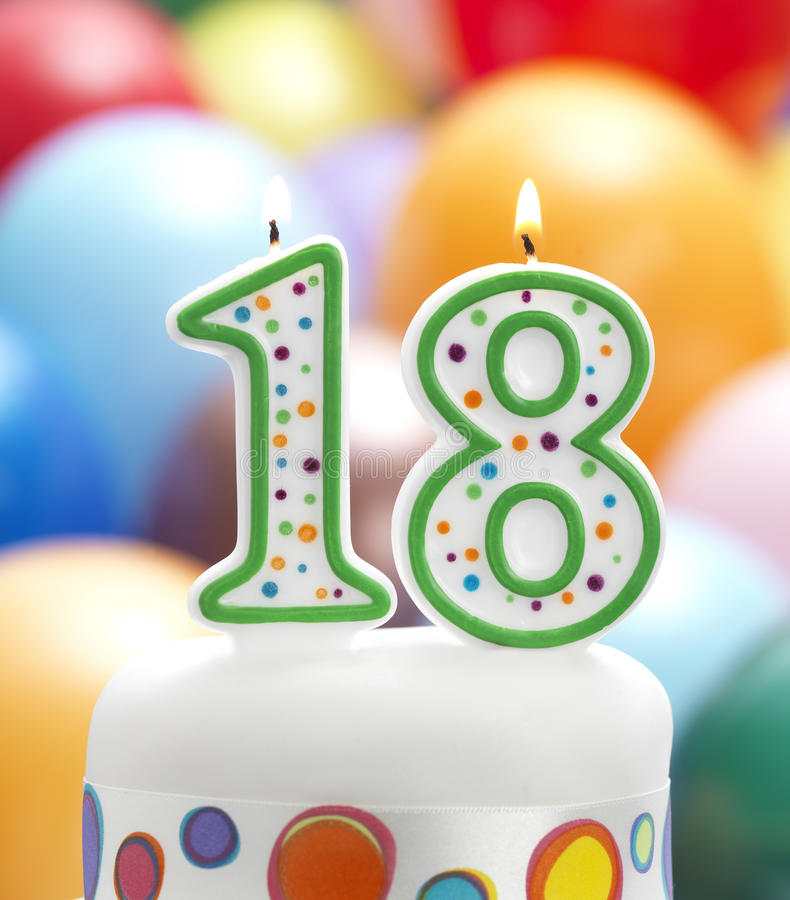 It's My 18th Birthday Stock Image. Image Of Candle