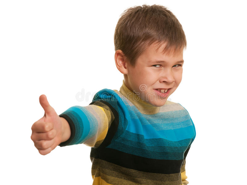 It's my victory! stock image