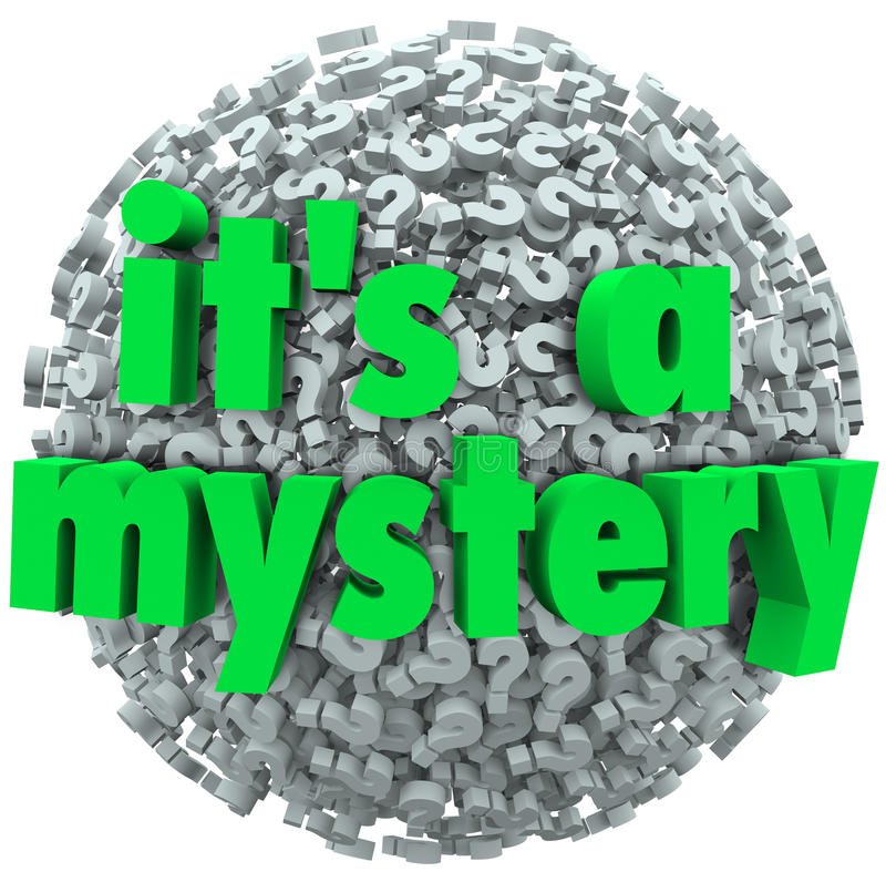 It S A Mystery Question Mark Ball Uncertainty Unknown Royalty Free Stock Image