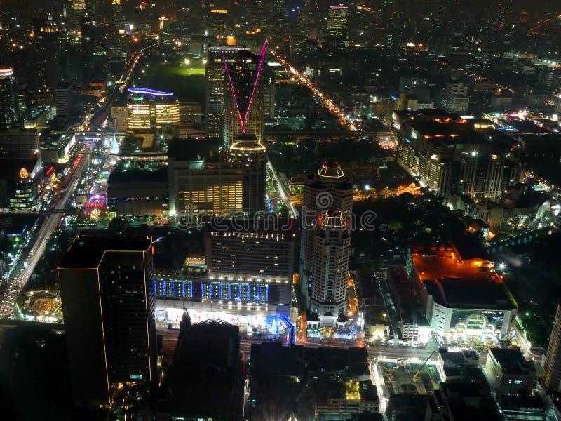 's nachts Bangkok royalty-vrije stock fotografie