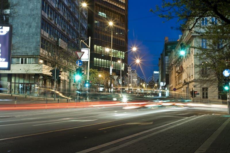 's nachts Belgrado stock foto