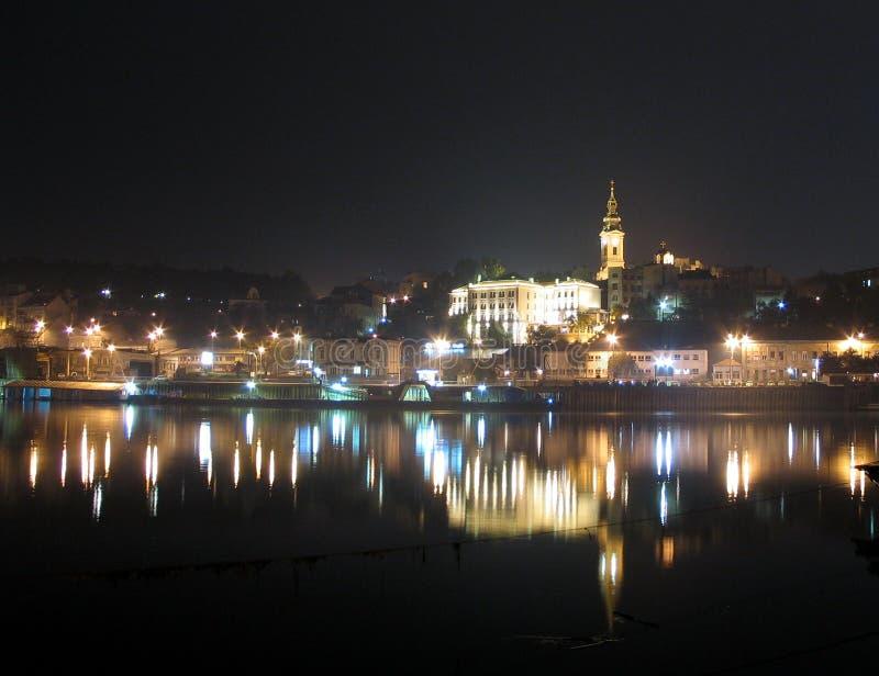 's nachts Belgrado royalty-vrije stock afbeelding