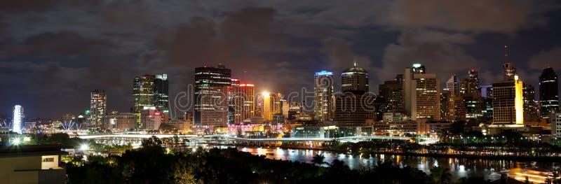 's nachts Brisbane stock afbeelding
