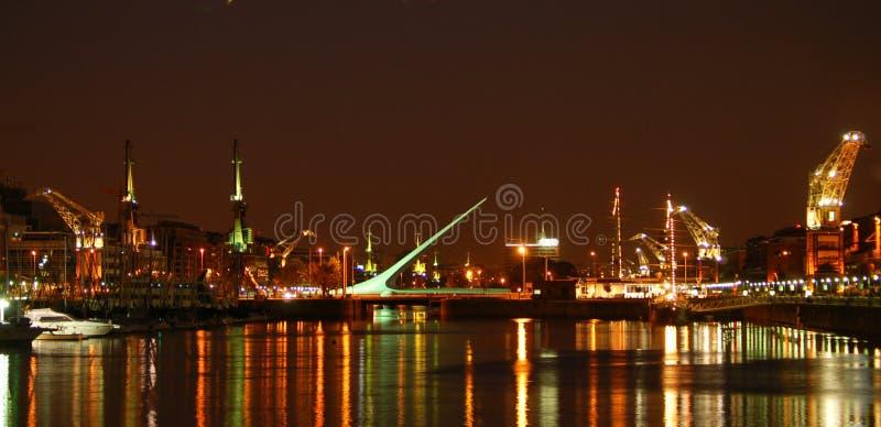 's nachts Buenos aires stock afbeeldingen