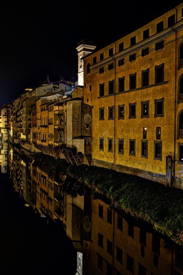 's nachts Florence royalty-vrije stock afbeeldingen