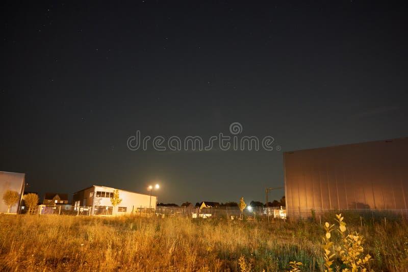 's nachts industriezone royalty-vrije stock foto