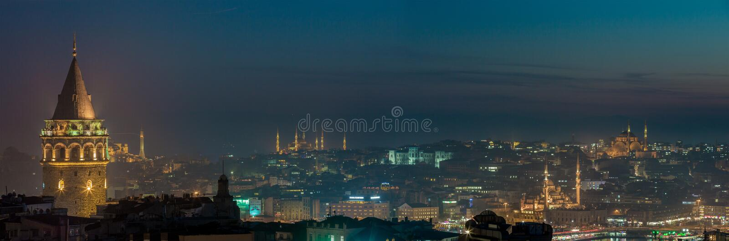 's nachts Istanboel stock foto