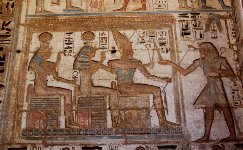 's nachts Luxor stock fotografie