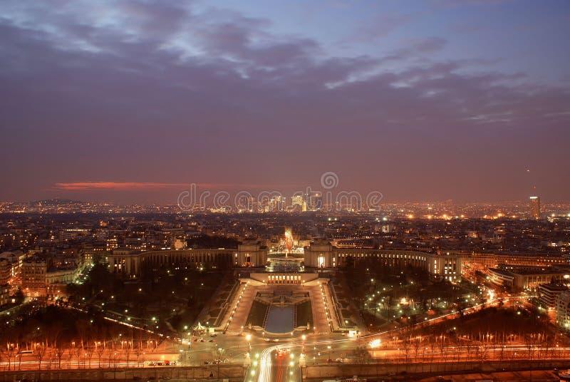 's nachts Parijs stock foto's