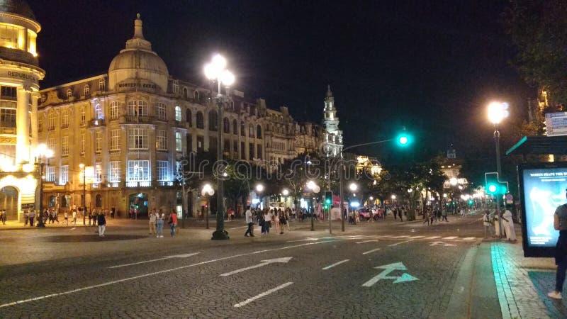 's nachts Porto stock afbeeldingen