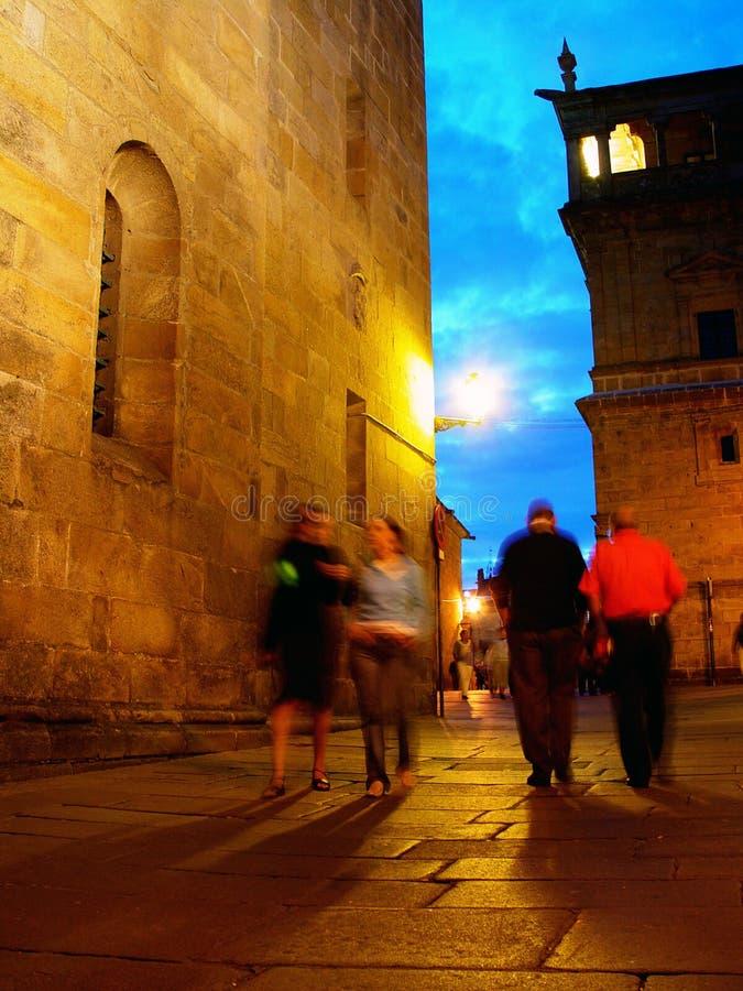 's nachts Santiago stock afbeelding