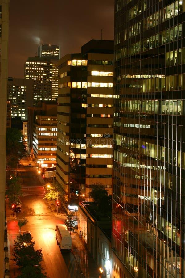 's nachts stad royalty-vrije stock fotografie