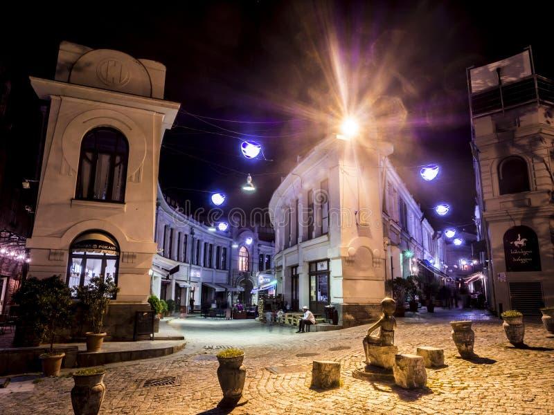 's nachts Tbilisi royalty-vrije stock foto's