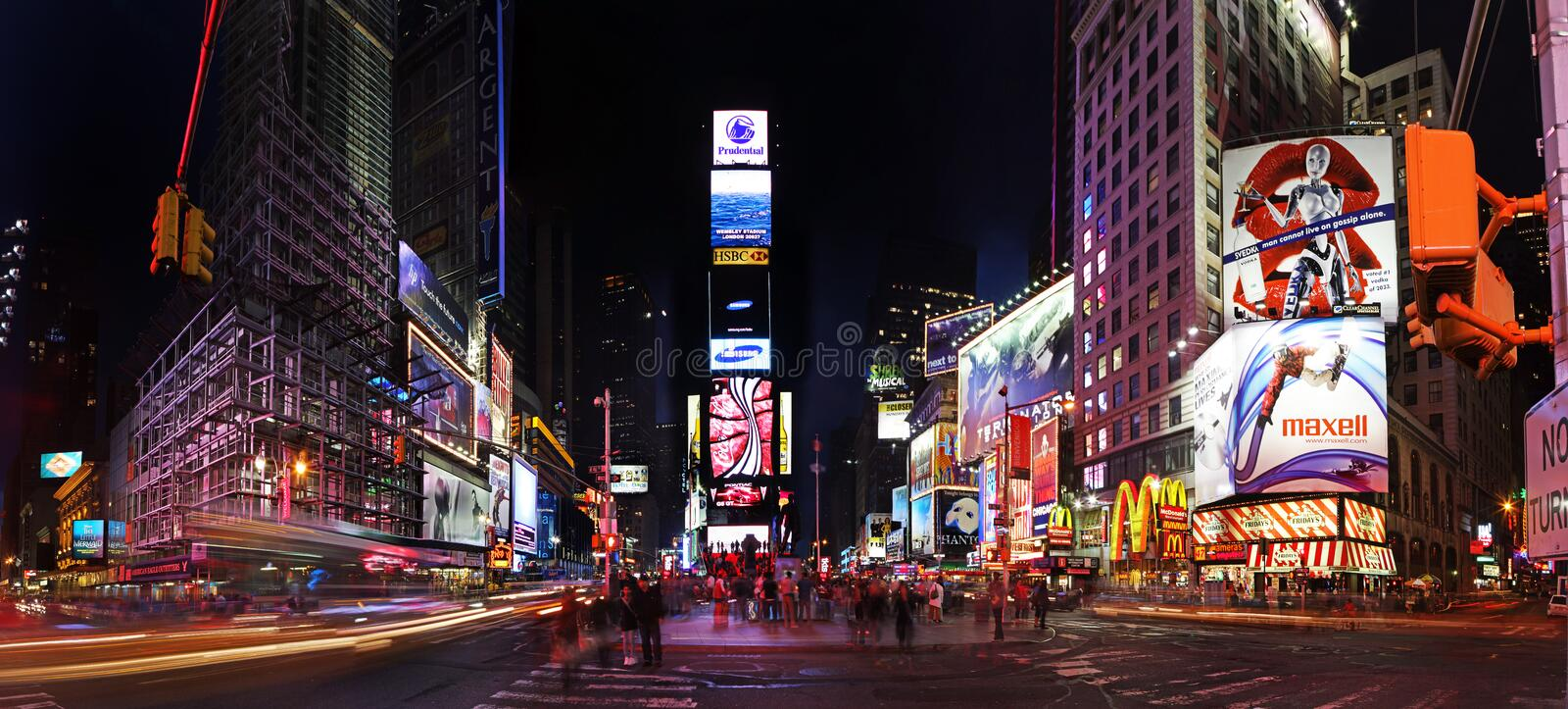 's nachts Times Square stock afbeelding