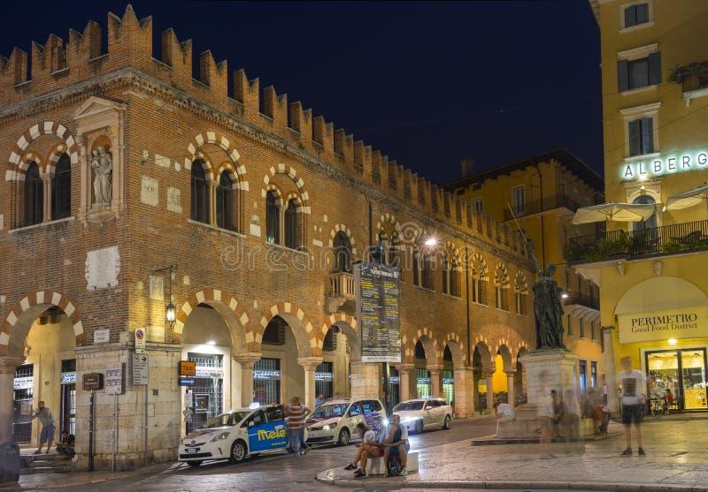 's nachts Verona stock foto