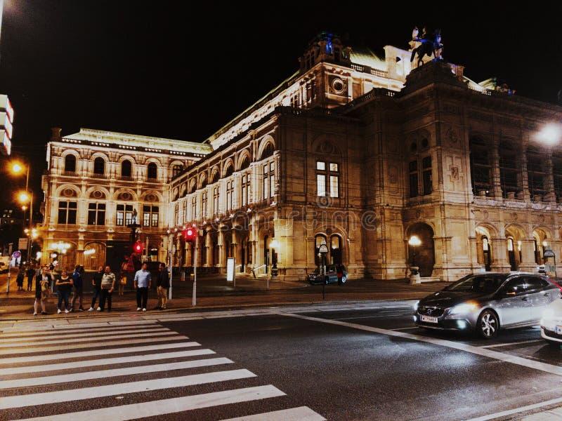 's nachts Wenen royalty-vrije stock foto