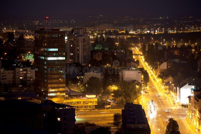 's nachts Zageb stock foto