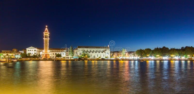 's nachts Zakynthos royalty-vrije stock foto's