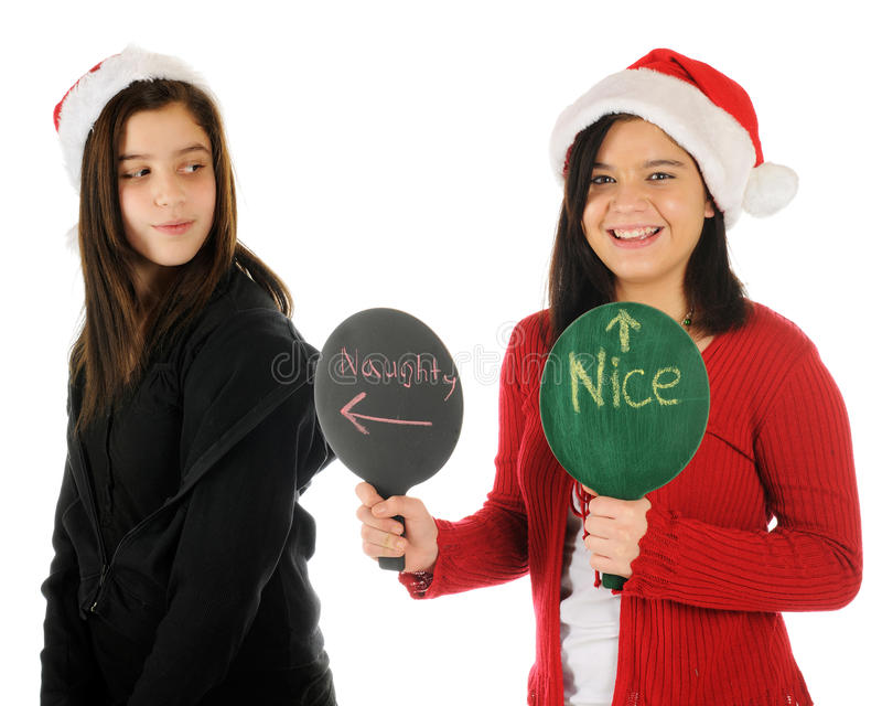 She's Naughty, I'm Nice stock photo