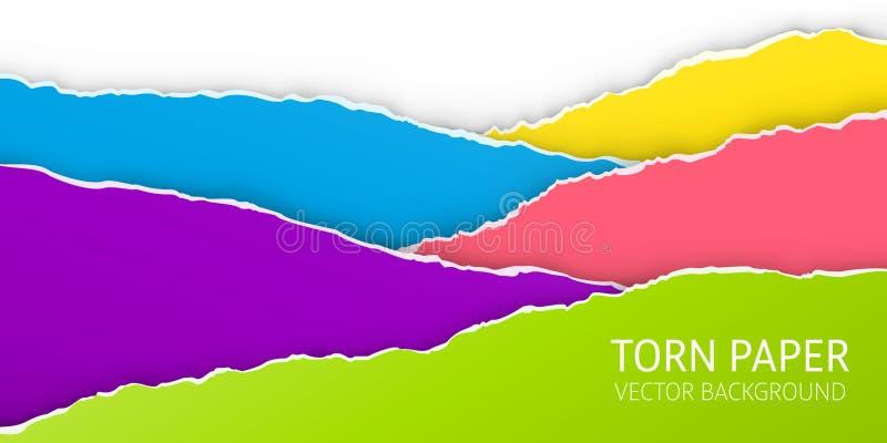 S?nderriven kantpappersbakgrund vektor illustrationer