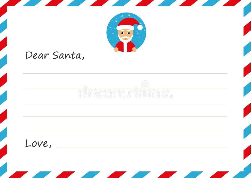 ` S neues Jahr des Schablonenumschlags Buchstabe zu Santa Claus mit Ikone Auch im corel abgehobenen Betrag Flaches Design vektor abbildung