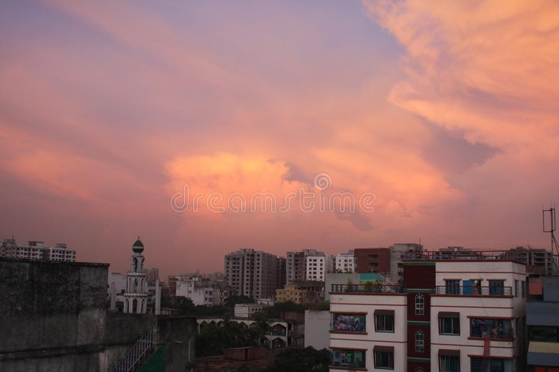 Landscape photo of cloudy sky. It`s a nice landscape photo of cloudy sky in my city royalty free stock image