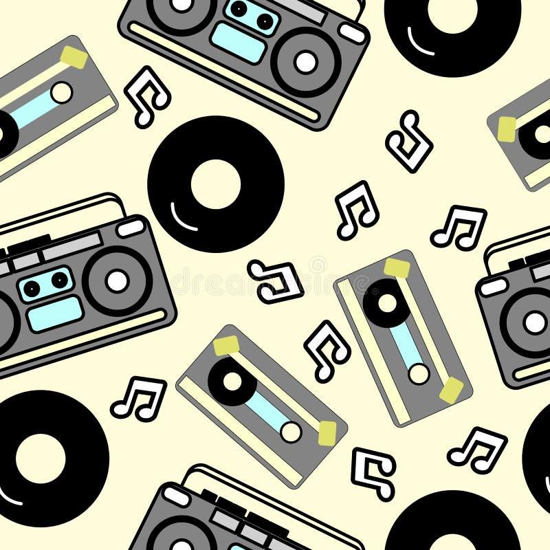 80s nostalgii styl, roczników 80 ` s retro mody bezszwowy tło ilustracja wektor