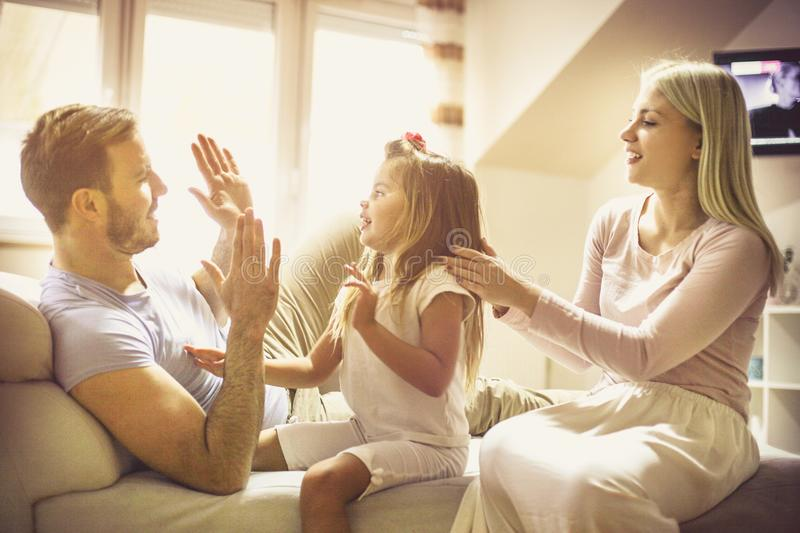 It`s not family bonding time without a bit of fun. stock photos