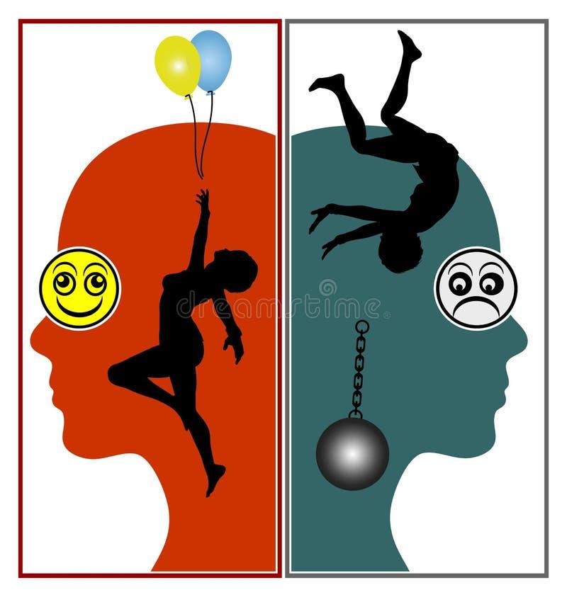 S?ntomas del desorden bipolar stock de ilustración