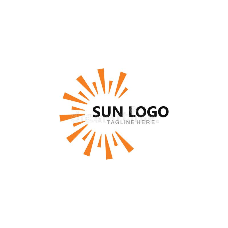 s?o?ce logo ikony wektoru ilustracja royalty ilustracja