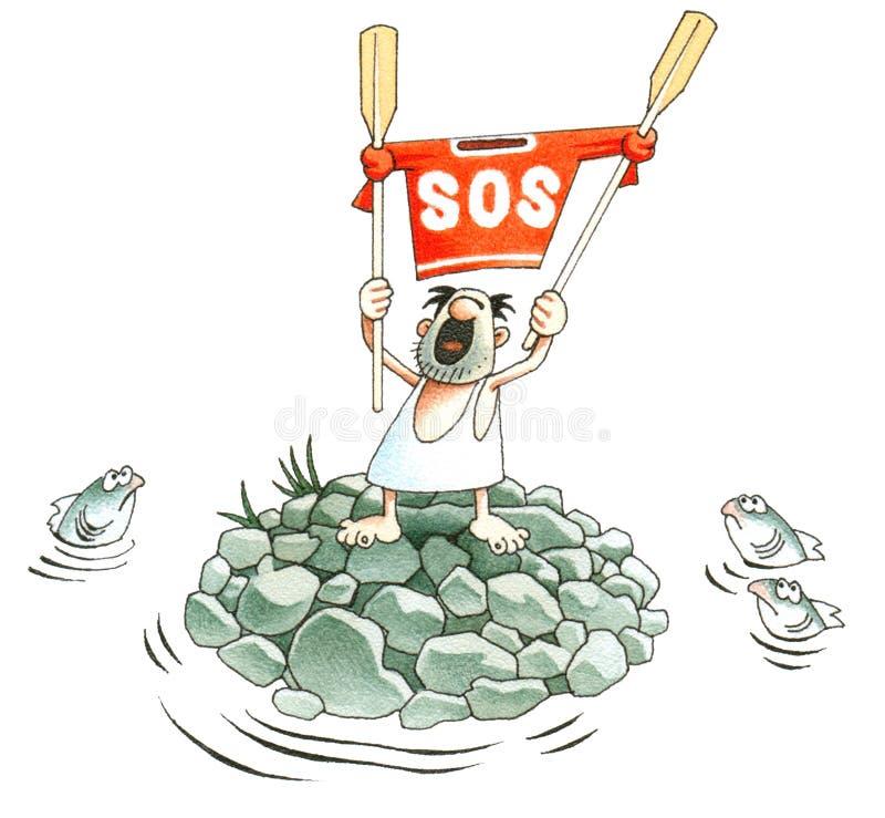 S.O.S. stock illustratie