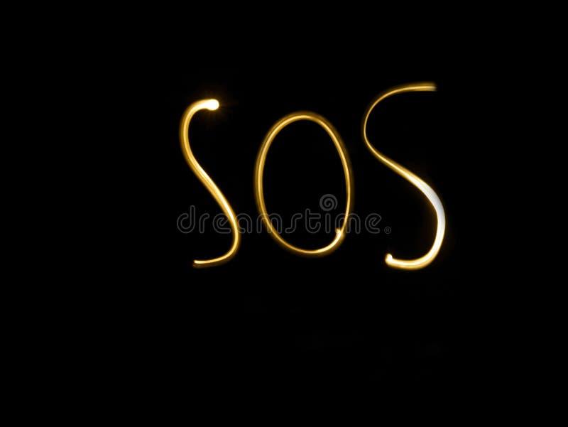 S.O.S. stock foto's