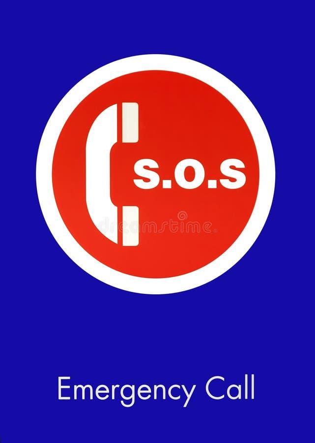 S.O.S. Segno di chiamata d'emergenza immagini stock