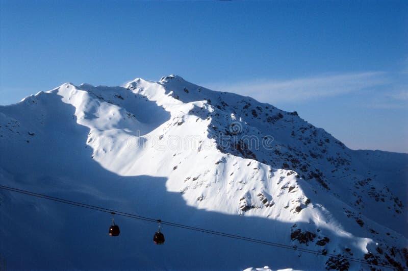 Słoneczny Peaks Fotografia Royalty Free