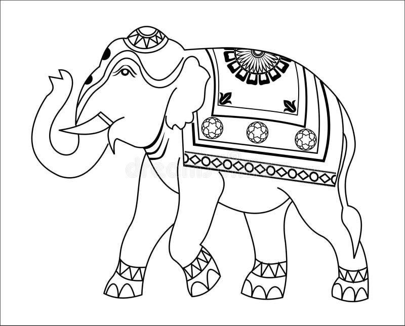 Download Słonia projekt ilustracji. Ilustracja złożonej z biały - 41952750